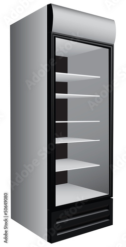 Commercial refrigerator showcase