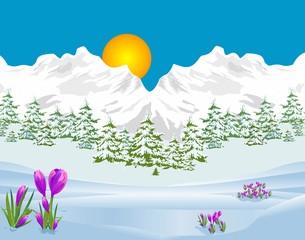 zwiastuny wiosny w górach