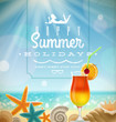Summer Holidays Emblem And Tro...