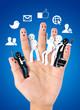 smile fingers for  symbol of social network