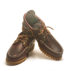 casual rugged mocassin style men's leather shoes