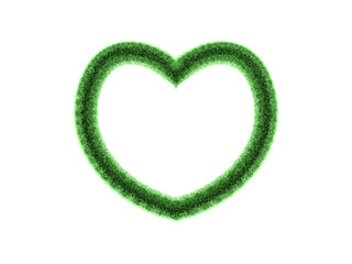 3D green heart frame