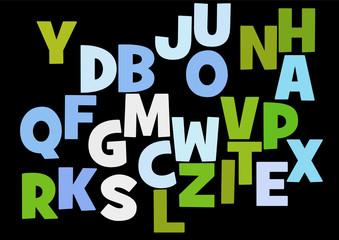 Nuage de Mots : lettres alphabet