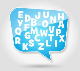 Bulle : Lettres de l'alphabet