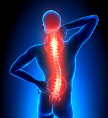 Male Hurt Backbone
