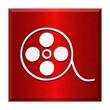 Button Icon Edelstahl quadratisch