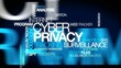 Cyber privacy tracking surveillance word tag cloud video