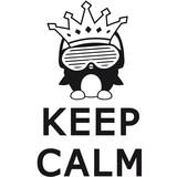 keep calm penguin poster