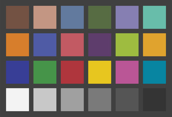 Color Checker Used In Photography For Color Calibration
