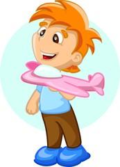 Мультипликационный персонаж, мальчик с воздуха план