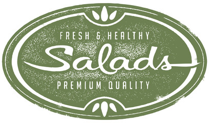 Vintage Fresh Salads Menu Stamp
