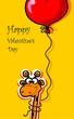 Постер, плакат: Счастливый день Святого Валентина векторная карта