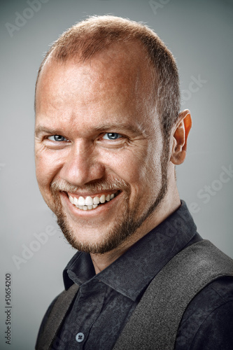 Portrait of happy smiling man