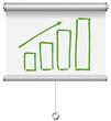 Flipchart Diagramm Trend positiv
