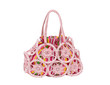 Two in one colorful weaved fabric lady handbag