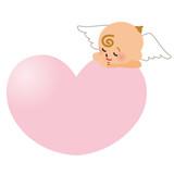 天使とハート