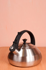 Close up of  metallic kettle