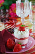 Erdbeer-Tiramisu mit frischen Erdbeeren