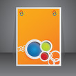 Vector orange advertising element / brochure design