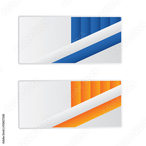 Vector modern abstract creative business card set