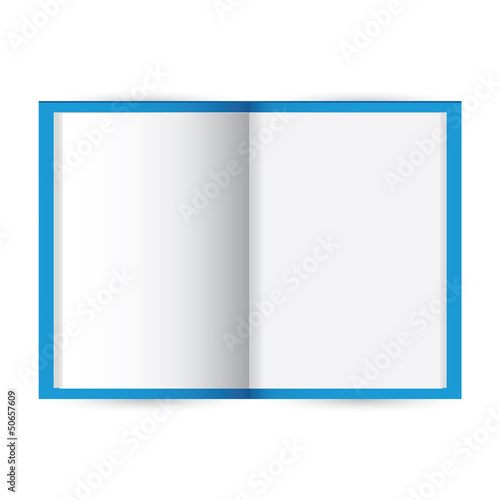Vector blank notebook on white background.