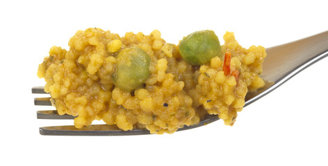 Couscous on fork
