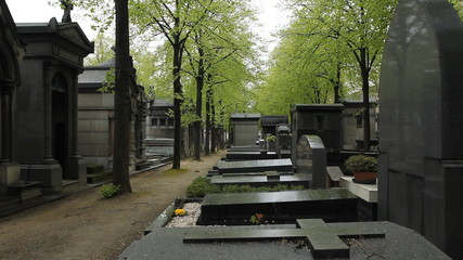 Montparnasse cemetery, Paris, France.