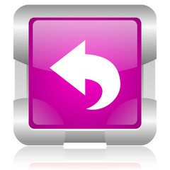back pink square web glossy icon