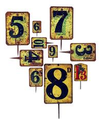 metal plate numbers