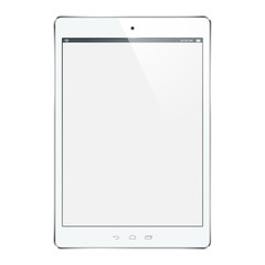 Vector white tablet computer