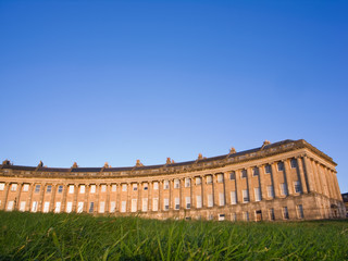 Low angle view of Royal Crescent, Bath