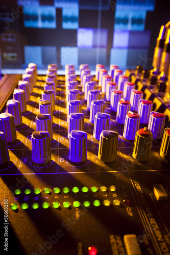 Mixing Desk Close-up