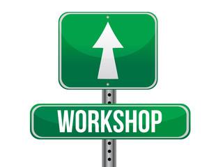 workshop road sign