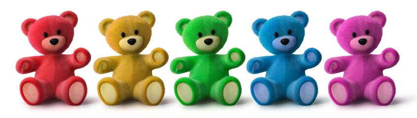 5 bunte Teddys