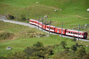 Glacier Express of Matterhorn-Gotthard railway