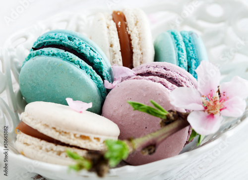 Papiers peints Macarons French macaroons