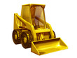 Skid steer loader made of gold