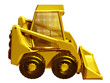 skid steer loadermade of gold, profile view