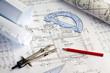 Bauplan eines Wohnhauses. Hausbau