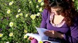 Girl studing in a nature