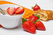 healthy fresh breakfast - cereal with strawberries