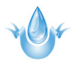 Stylized water drop.