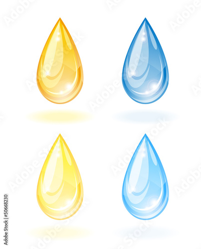 Stylized drop of oil and water.