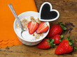 healthy breakfast - cereal with fruit