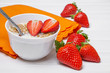 healthy fresh breakfast - cereal with fruits