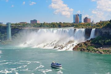 Niagara Falls with boat