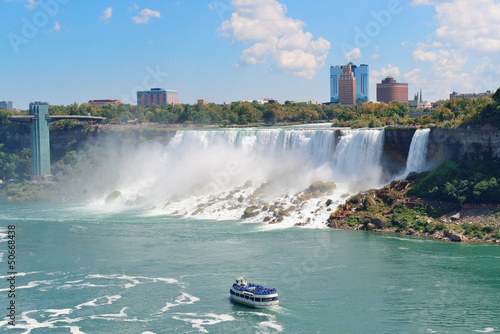 Niagara Falls with boat