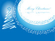Christmas card blue