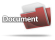"3D Style Folder Icon ""Document"""