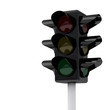 Traffic lights without signal, 3d